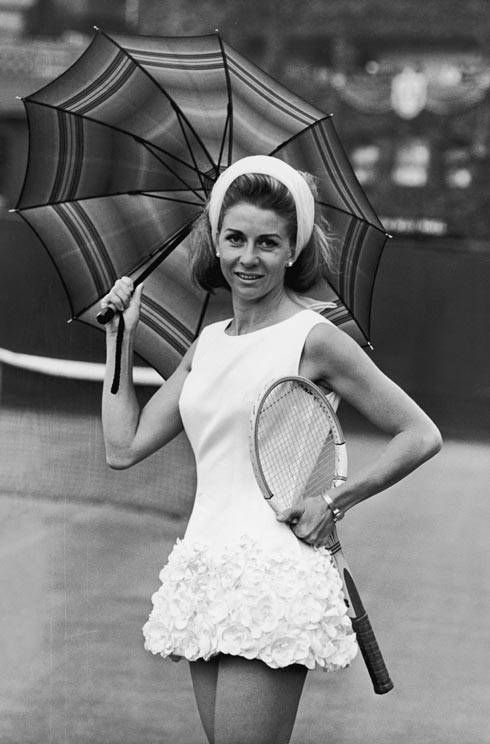 56b0b4d16b59  Wimbledon Retrospective  Sportswear designer Teddy Tinling revolutionised  the tennis dress in the 1950s and 1960s. Italian tennis player Lea Pericoli  wears ...