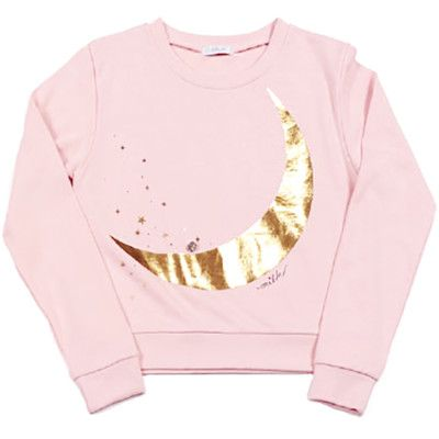 je ne t'aime plus; milk online shop * オーバー・ザ・ムーン Tops ☆ featuring polyvore fashion clothing tops t-shirts sweaters pink t shirt aime pink top pink tee