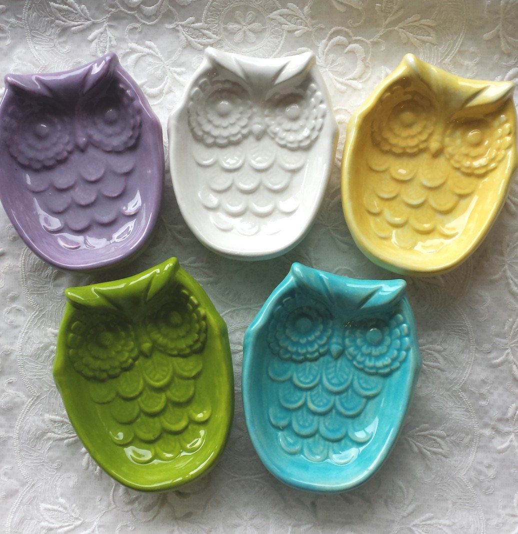 Owl Home Decor Accessories Owl Spoon Rest Soap Dish Home Decor By Angelheartdesigns