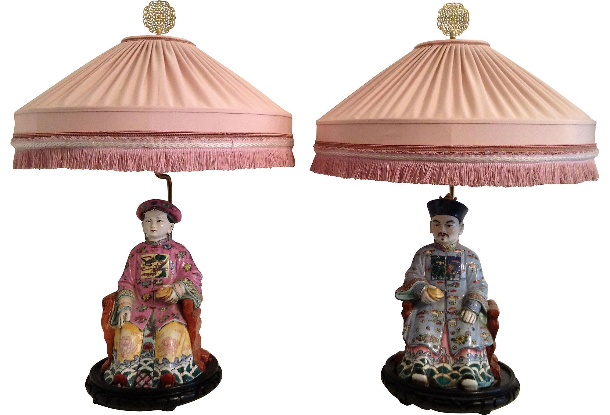 Chinese figure lamps pair one kings lane vintage market finds chinese figure lamps pair one kings lane vintage market finds lighting arubaitofo Choice Image