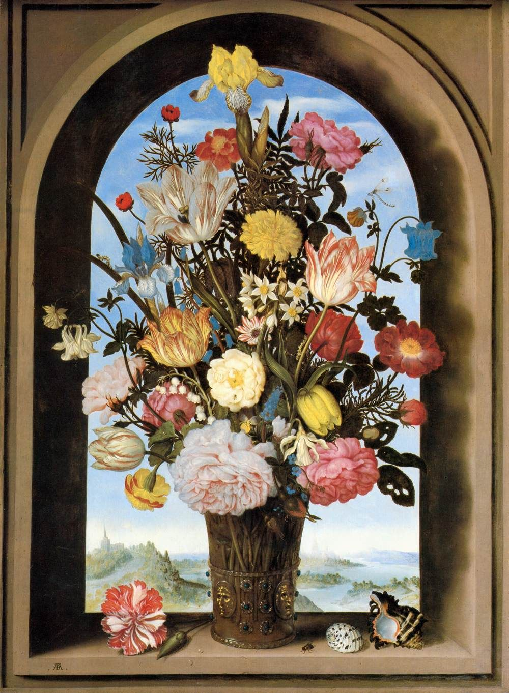 The origin of flower giving what are you really saying gifts vase with flowers in a window by ambrosius bosschaert the elder 1620 is a vibrant inspiration for mays art bead scene monthly cha reviewsmspy