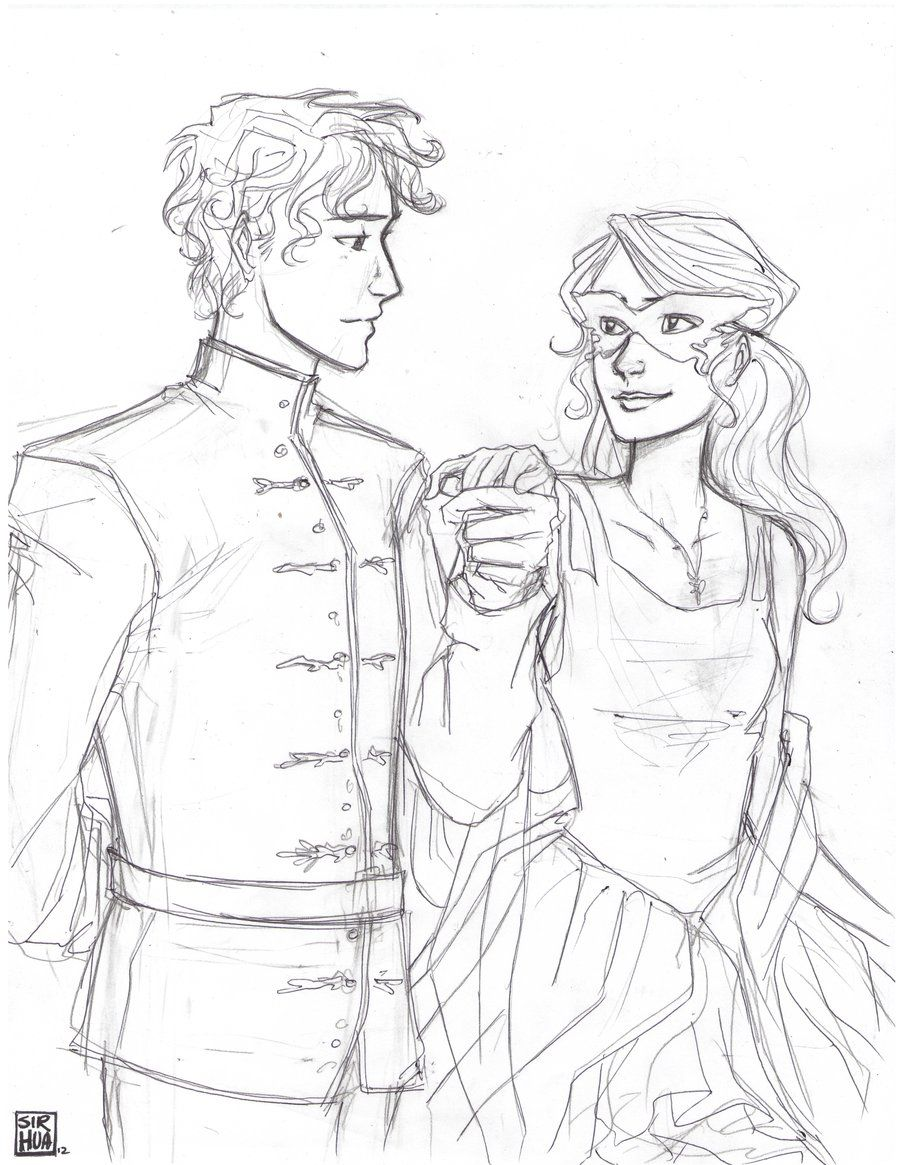 """Do I know you?"" by Win-E.deviantart/ Ella Enchanted. Honestly I don't even remember this part of the book"