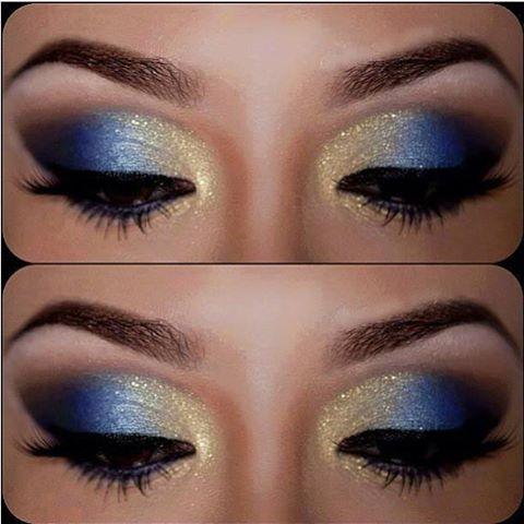 Top Blu e oro | Trucco | Pinterest | Trucco, Trucco occhi e Occhi IX12