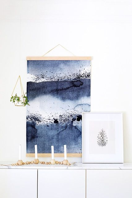 Diy To Try Statement Making Fabric Wall Hanging Wall Hanging Diy Metal Tree Wall Art Diy Wall Art