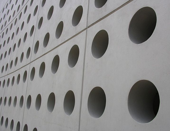 Perforated Cmu Block Wall Google Search Block Wall Concrete Wall Wall