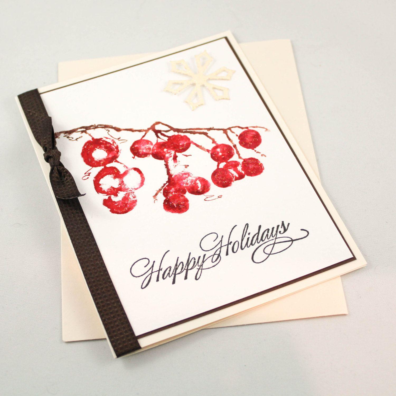 Handmade Christmas Card Ooak Christmas Card Unique Christmas