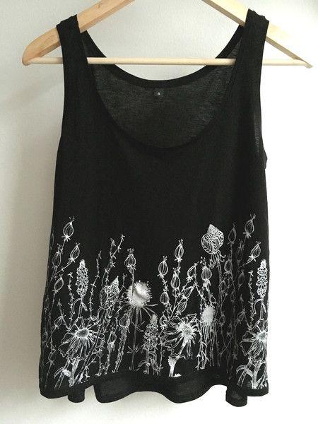 Shirt * Blumen * schwarz / silber von loretta cosima auf