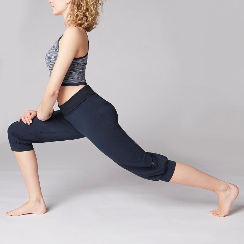 abe907d6c71f8 Corsaire yoga doux femme coton issu de l'agriculture biologique bleu ...