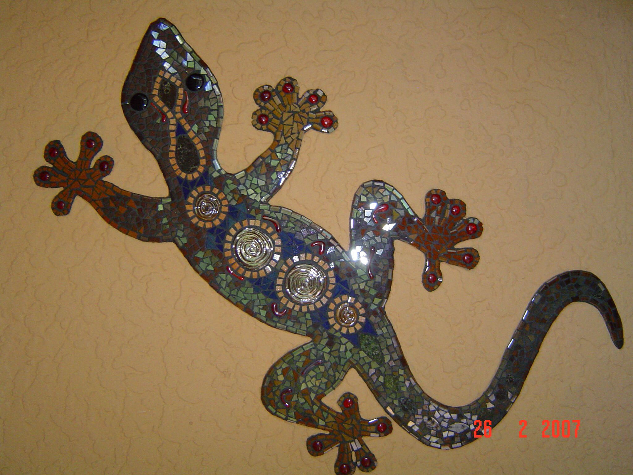 Mosaic lizard by lisa bus art studio lisa bus art studio mosaic