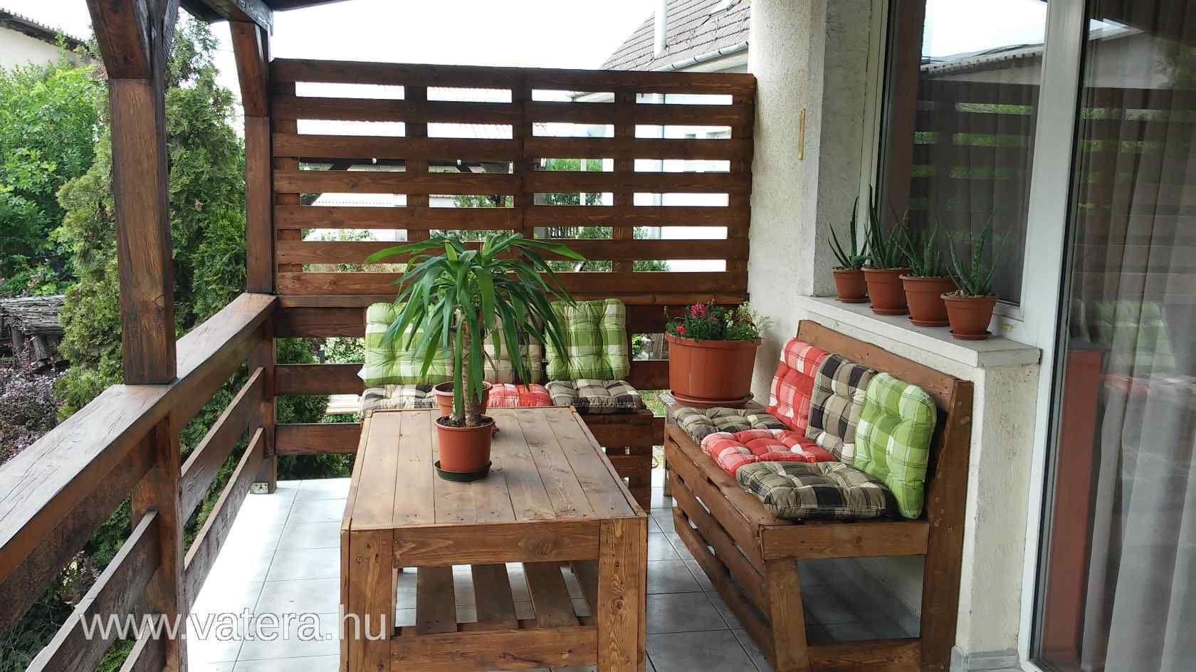 ÚJ fa kerti bútor szett 1 asztal, 2 pad Vatera.hu