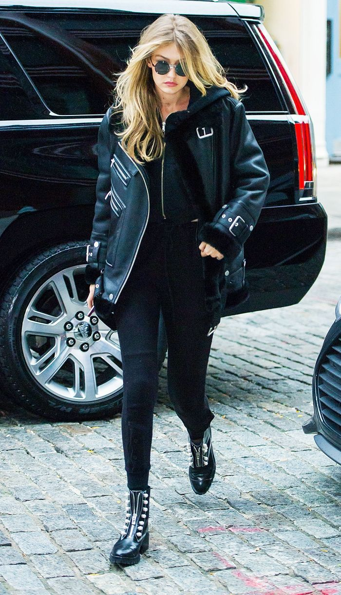 Gigi Hadid Just Wore the Jacket You'll Find in Every High-Street Shop Right Now #gigihadid