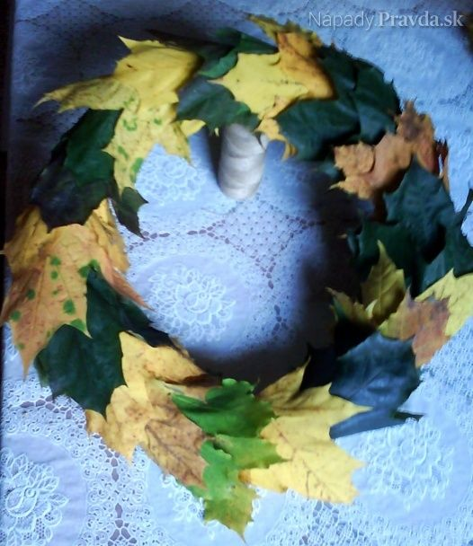 Veniec z listov (fotonávod)