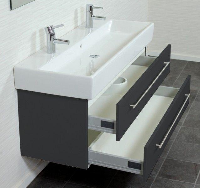 Villeroy & Boch vasque Memento 120 cm meuble double anthracite