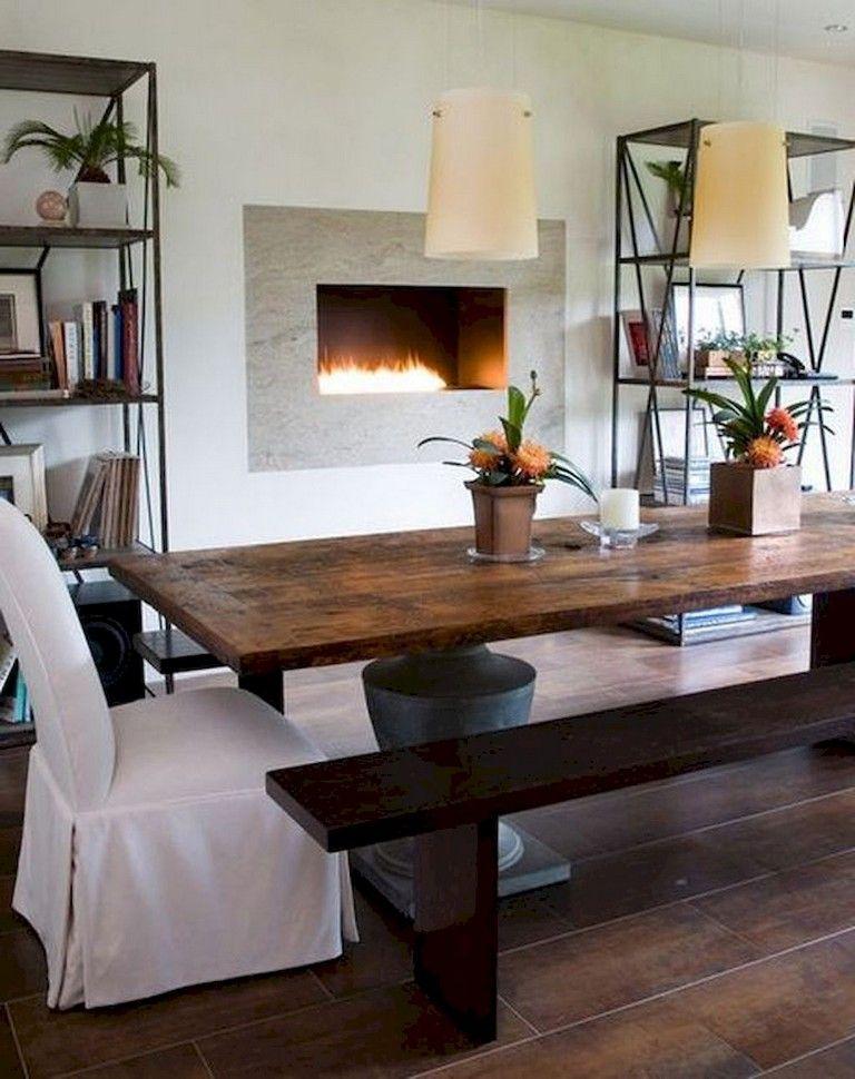 55 wonderful rustic farmhouse dining room table decor