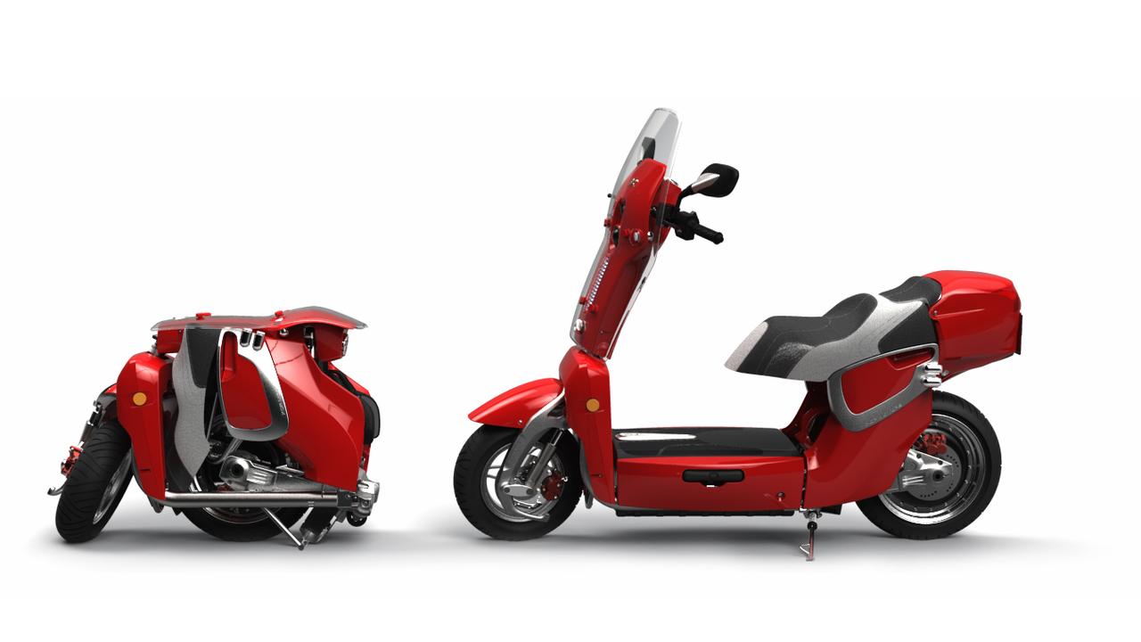 xor motors xo2 foldable electric scooter motors easy. Black Bedroom Furniture Sets. Home Design Ideas