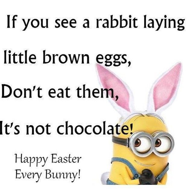 Funny Happy Easter Meme : Funny easter minion quote quotes pinterest