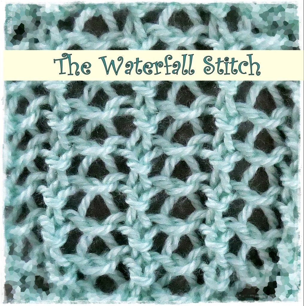 loom knitting waterfall stitch knittinginstructions