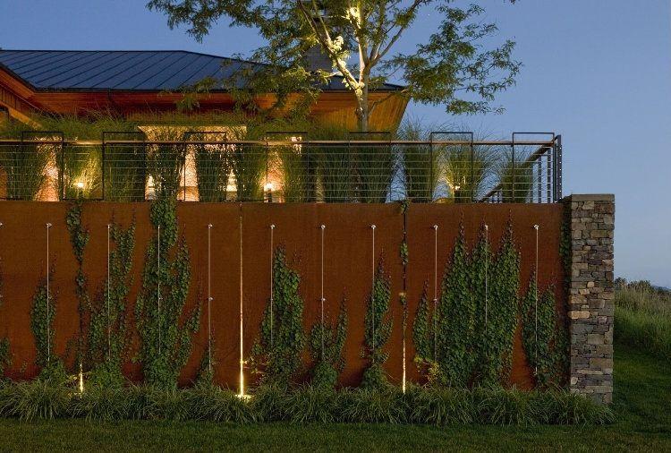 brise vue jardin et d co en acier corten 30 id es. Black Bedroom Furniture Sets. Home Design Ideas
