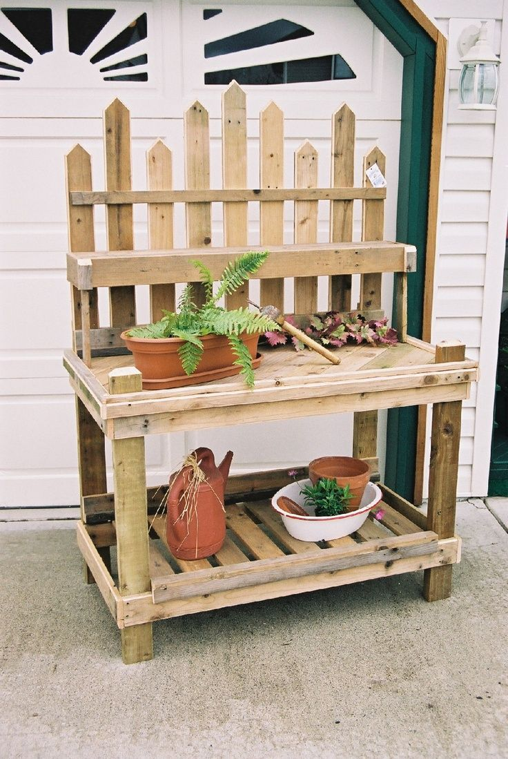 Potting Bench From Pallets Another Custom Potting Table