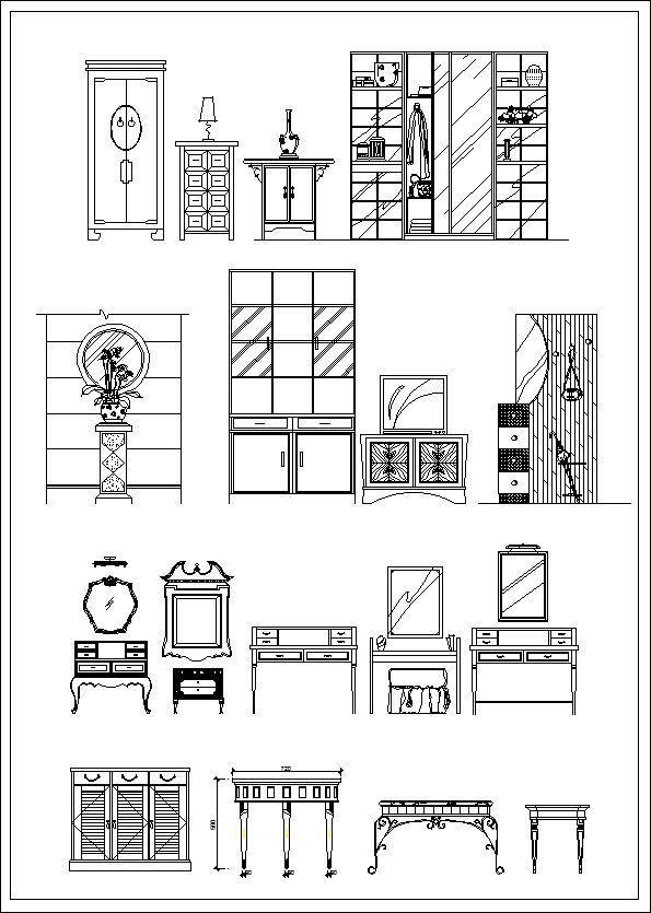 Furniture Elevation Sofa Elevationchair Elevationcabinet
