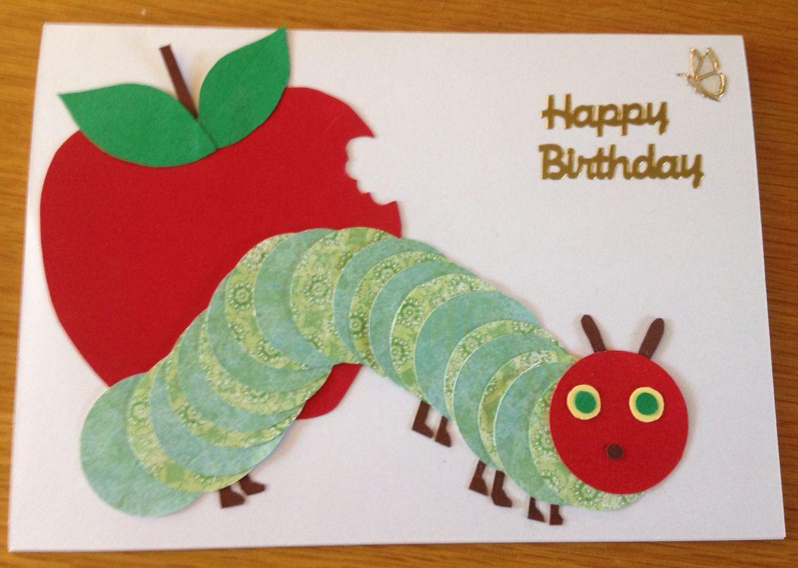 Hungry Caterpillar Birthday Card Kids Birthday Cards Hungry Caterpillar Birthday Cards Handmade