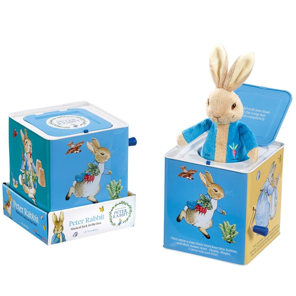 Peter rabbit is a classic story so this jack in a box is a great buy beatrix potter peter rabbit jack in the box from our musical toys range at john lewis negle Image collections
