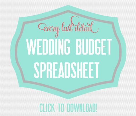 First Things First Setting A Wedding Budget Wedding budget - Download Budget Spreadsheet