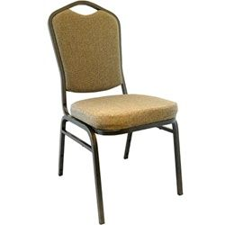 Mixed Tan Padded Advantage Banquet Chairs Gold Vein Frame 2