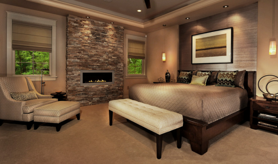 Accessories Awesome Stacked Stone Fireplaces Design Ideas