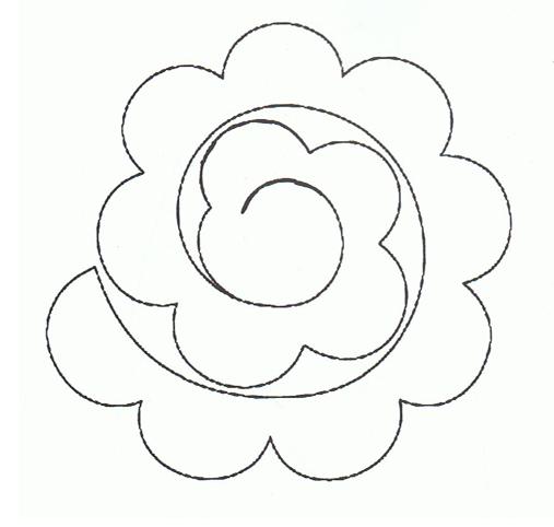 Szablon Rozyczka Z Filcu Flower Diy Crafts Diy Flowers Crafts