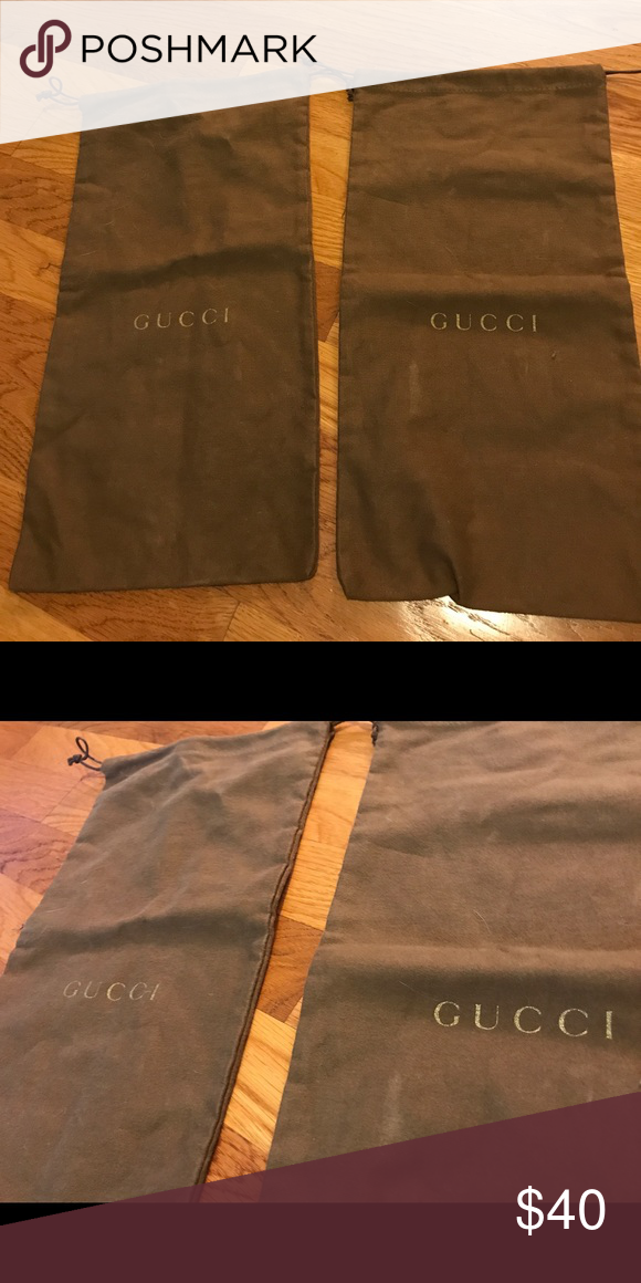 3f904598201 Gucci shoe dust bag 👠 two bags! Gucci shoe dust bag 👠 two bags! Gucci  Accessories