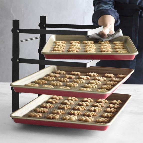 Williams Sonoma Tiered Folding Baker S Rack Williamssonoma
