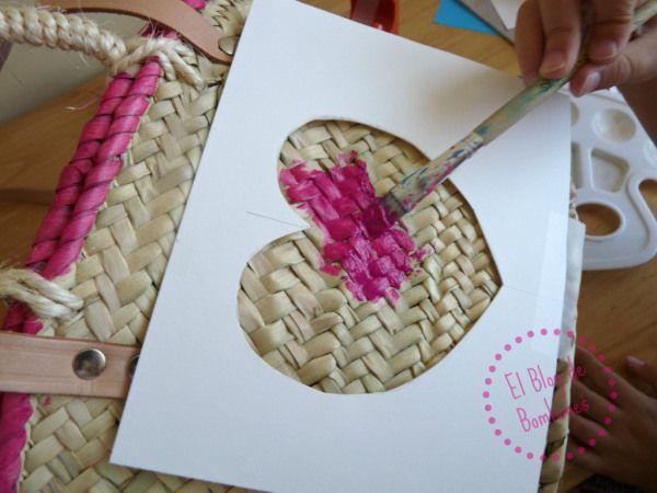 Capazo para la playa diy para peques beach basket super easy dyi for children craft ideas - Capazo mimbre playa ...