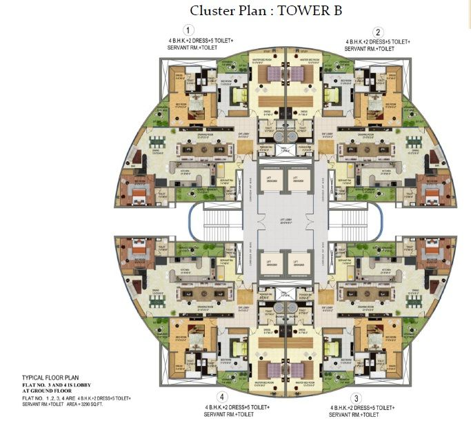 Cluster House Floor Plan: Supertech ORB.Sector-74,Noida In 2019