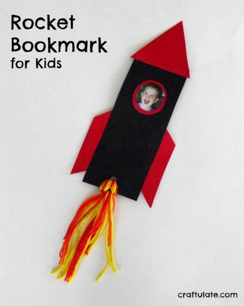 Rocket bookmark for kids help them whooooosh into their for Bookmark craft for kids
