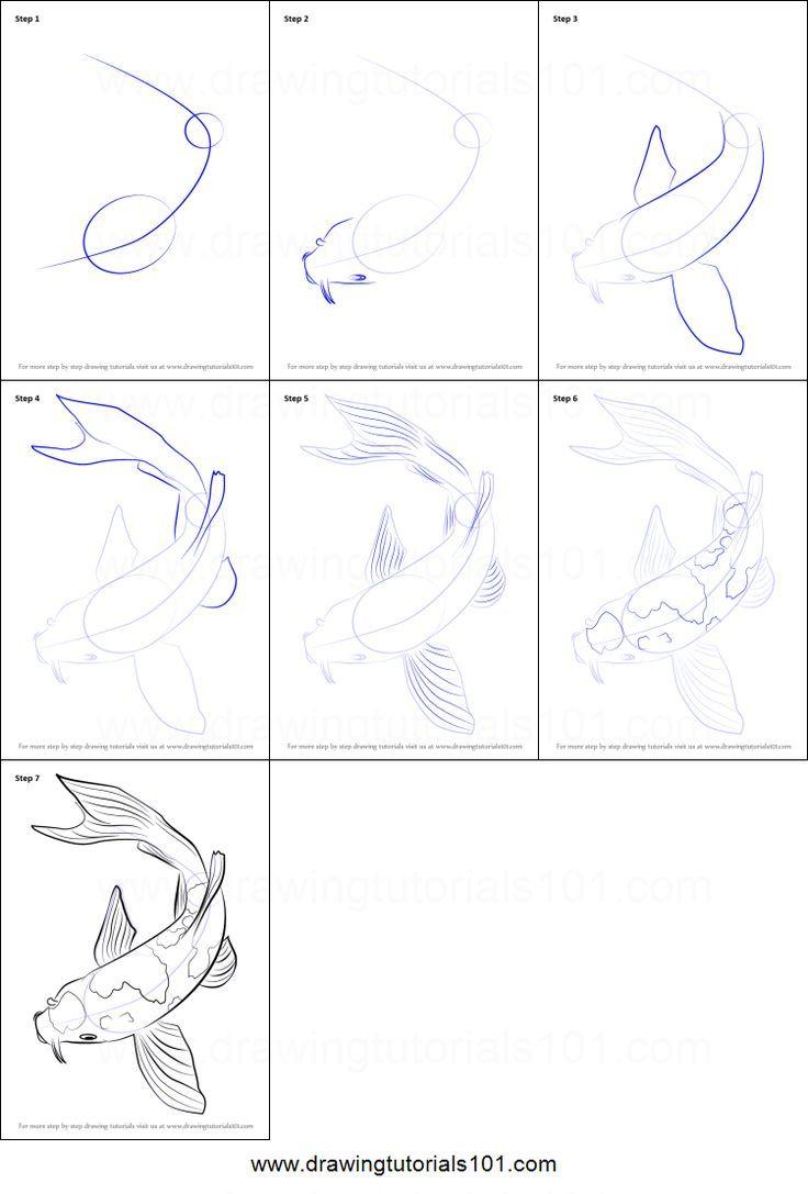 Resultado de imagen para koi drawing tutorial | acuarela 水彩画 ...