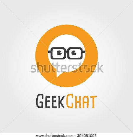 geek chat logo design logo template nerd forum community