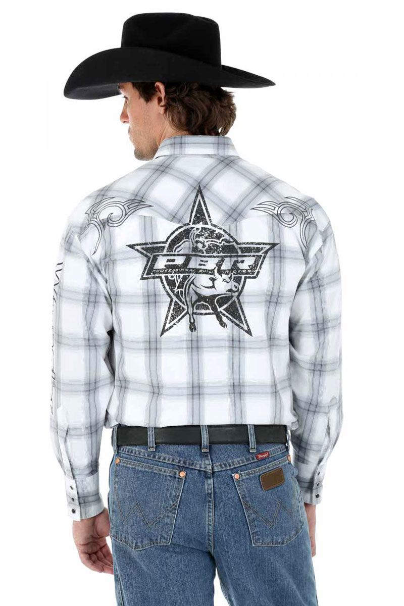 On sale! Wrangler Men's PBR Rodeo Shirt | What the Cowboys Wear ...