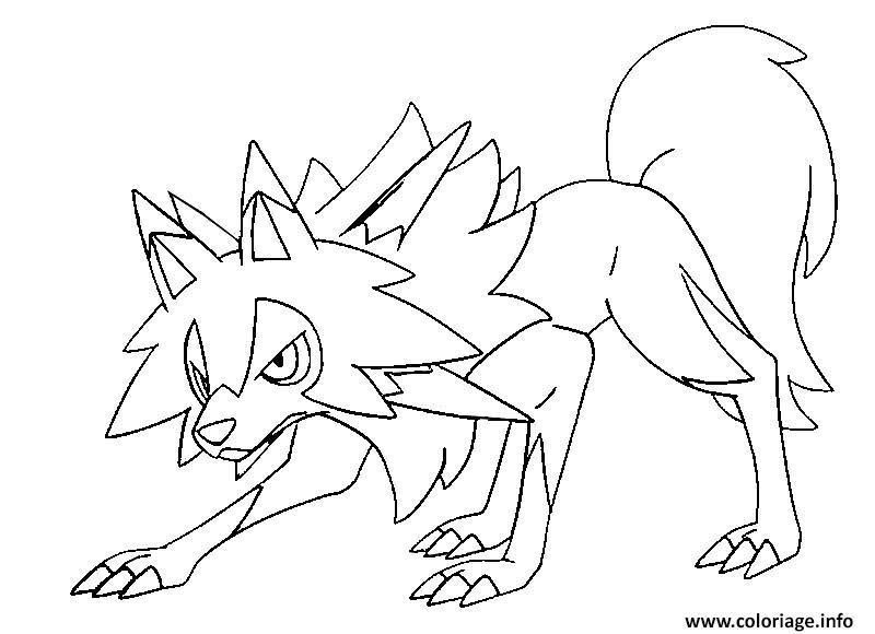 Coloriage Pokemon Soleil Et Lune Moon Coloring Pages Pokemon