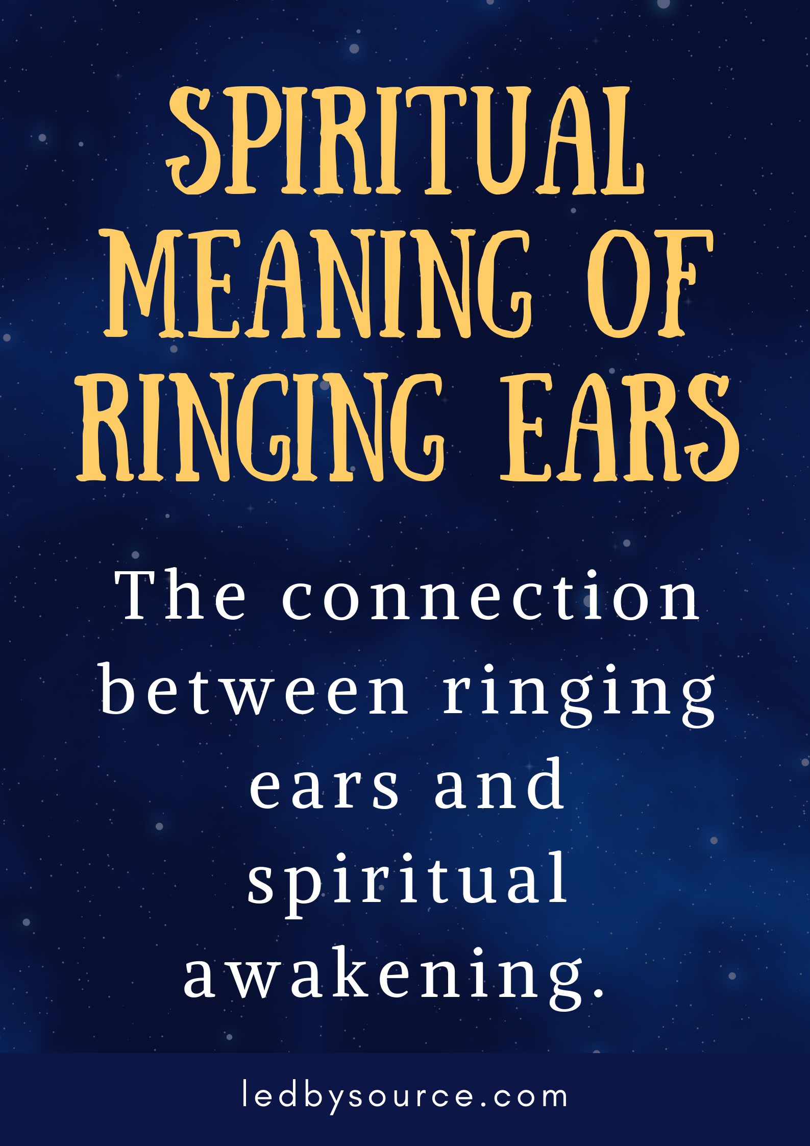Ringing In The Ears Spiritual Meaning