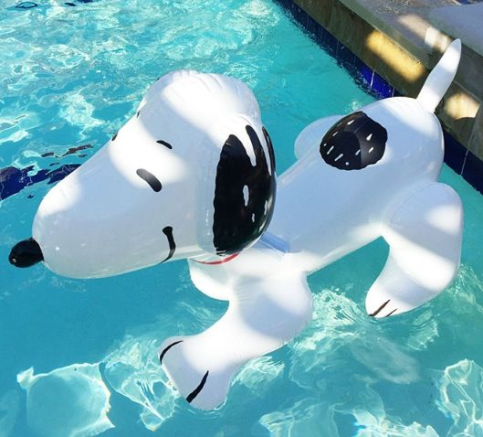 this snoopy is the best version pool pinterest bou e piscine jeux piscine and matelas. Black Bedroom Furniture Sets. Home Design Ideas