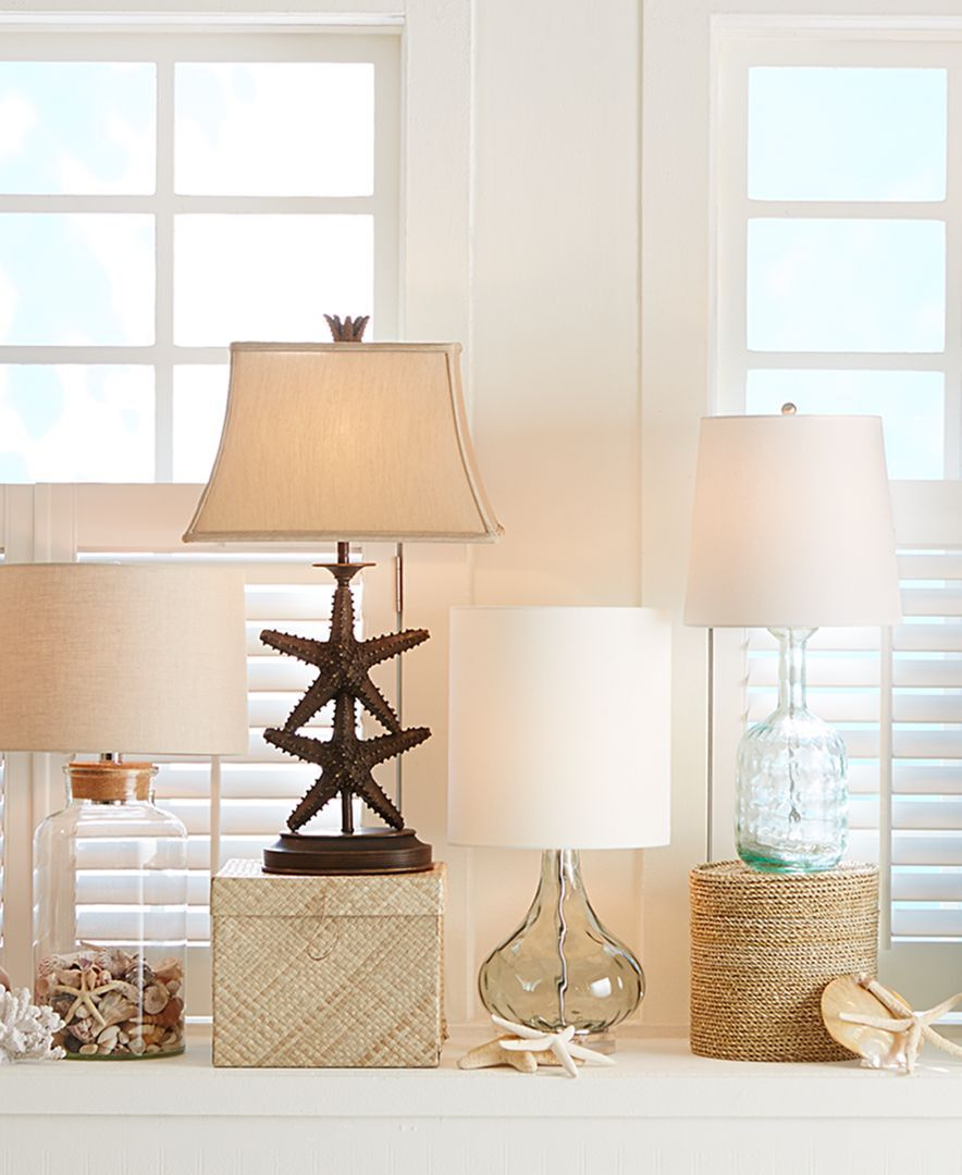 Kathy Ireland Pacific Coast Pacific Glass Table Lamp Reviews All Lighting Home Decor Macy S Unique Table Lamps Decor Home Decor