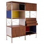 charles ray eames storage unit esu walnut walnuss replica nachbau schrank bookcase 1949