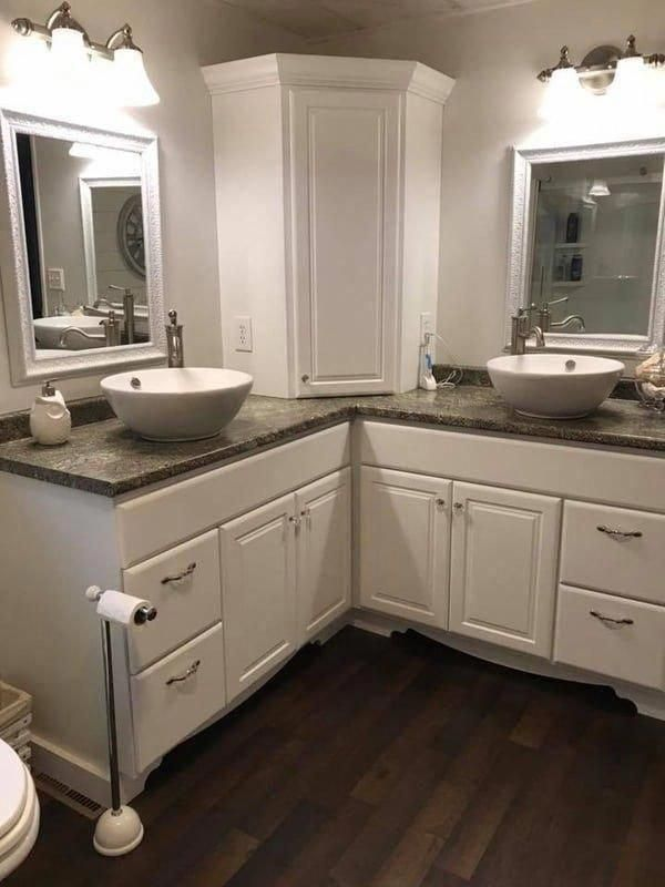 1984 double wide manufactured home remodel master bathroom ...