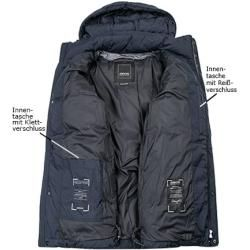 Photo of Geox men's down jacket, microfiber Respira, dark blue GeoxGeox
