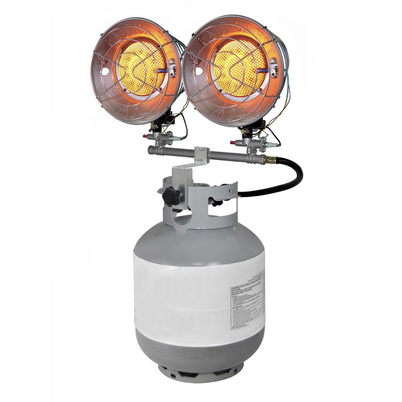 15,000 BTU Portable Propane Radiant Tank Top Heater with ...
