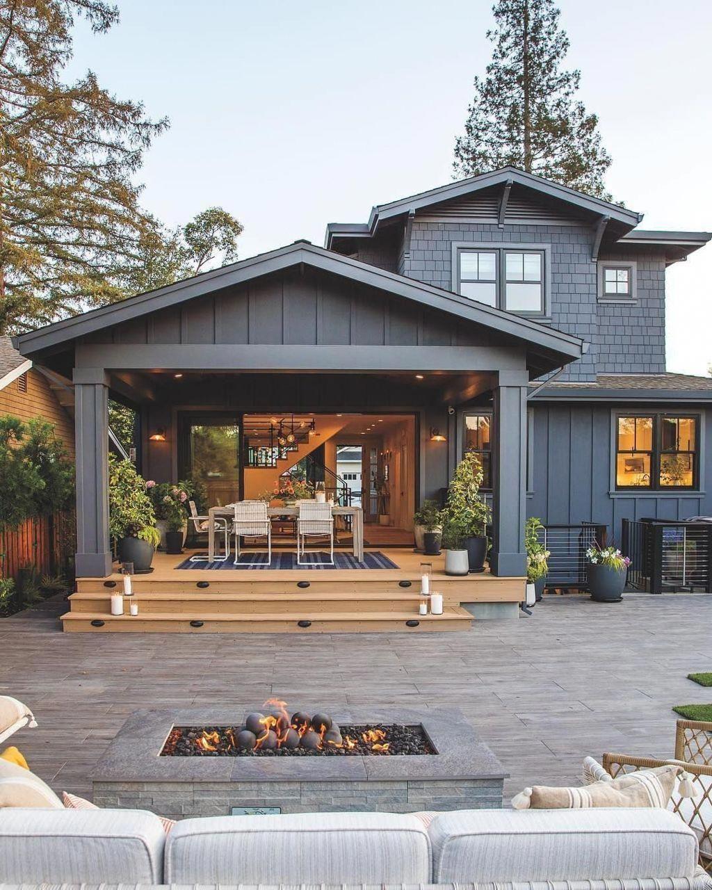 30 Back Porch Designs Perfect For Everything Shairoom Com Modern Farmhouse Exterior House Exterior Exterior House Colors Backyard porch ideas for houses
