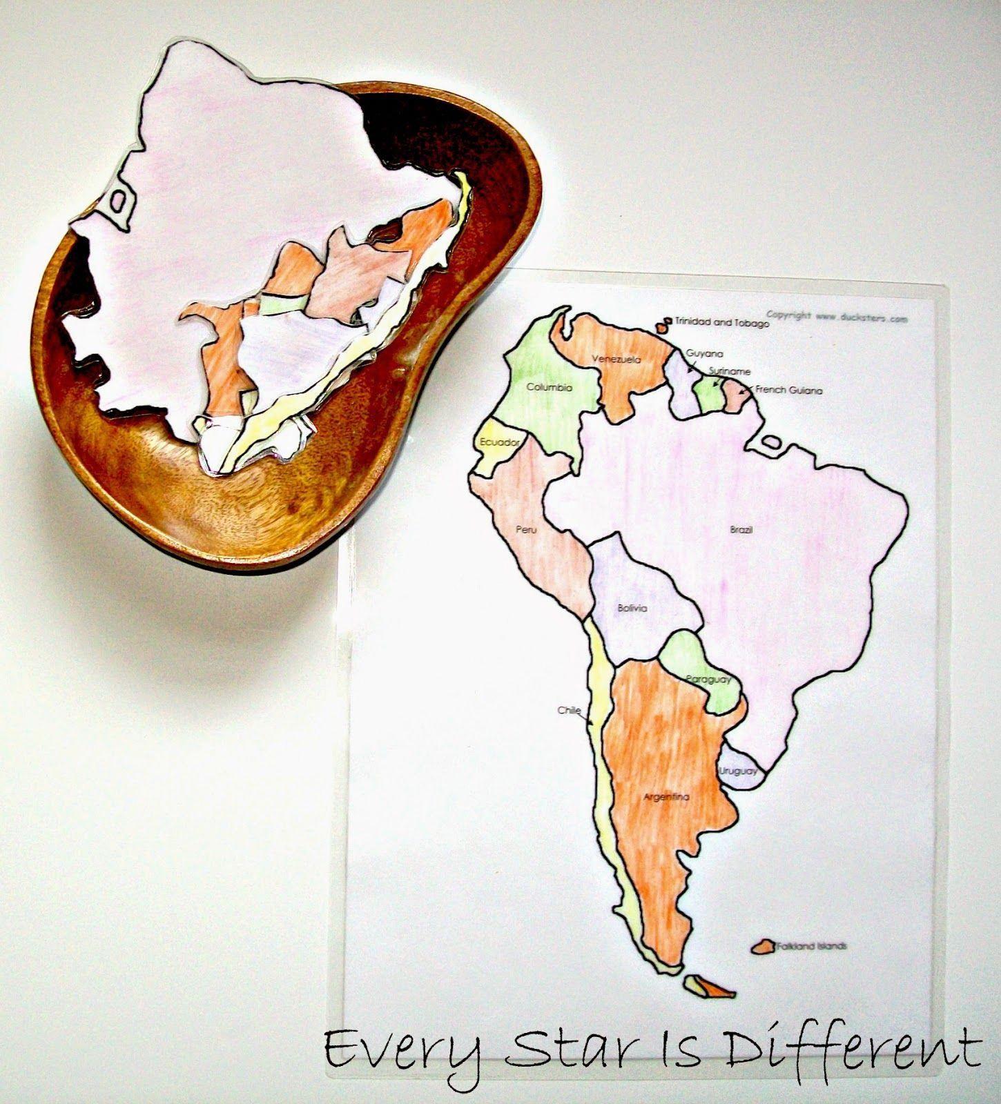 South America Unit W Free Printables