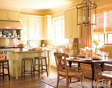 Sensual Neutrals  Just like the rest of the house, this kitchen, designed by Kathy Smith, is a study in beige, brown, and gold.