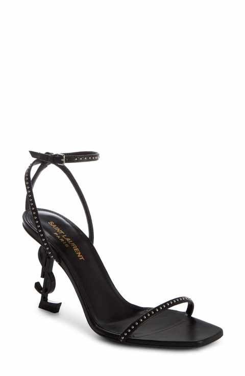 Saint Laurent Women's Opyum Ysl Studded Ankle Strap Sandal MfUpOV